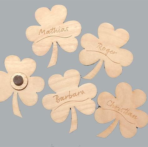 Namensschilder mit Magneten