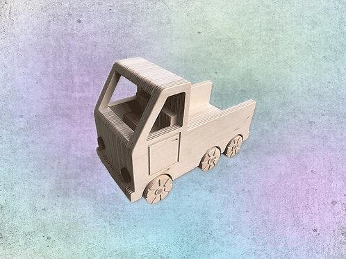 Lastwagen aus Sperrholz
