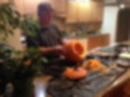 Pumpkin in Kitchen