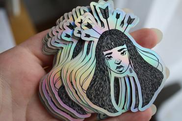 """Headache"" Holographic Stickers"