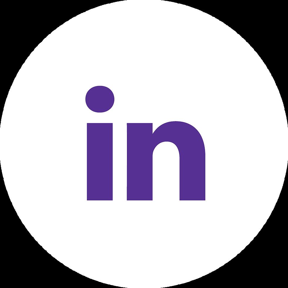 LinkedIn Purple on White
