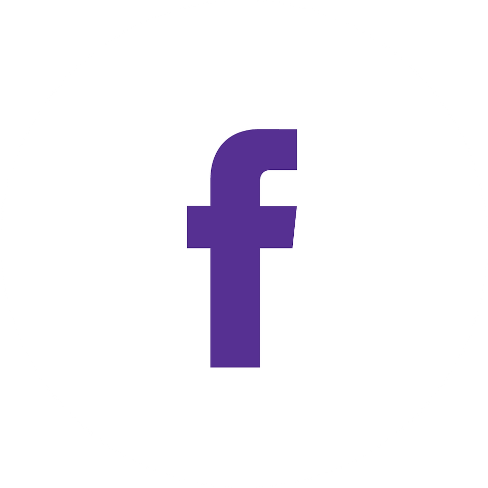 Facebook Purple on White