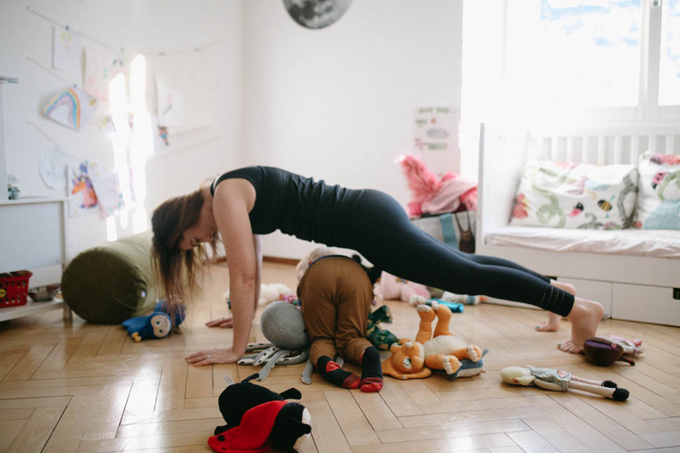 Plank with kids