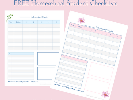Free Homeschool Student Checklists