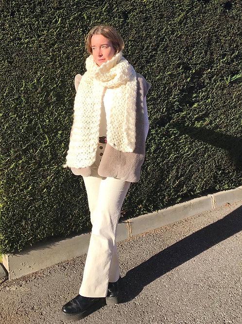 Bufanda xxl blanca