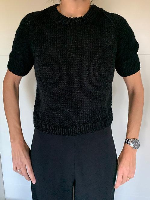 camiseta punto negra