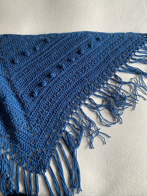Chal Crochet Azul