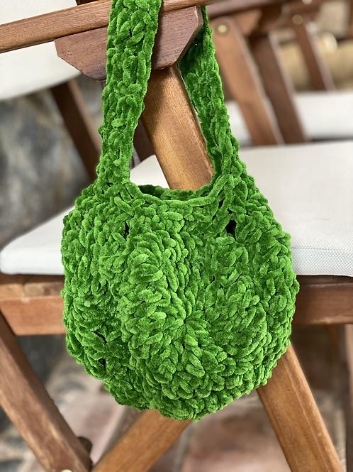 Velvet bag verde