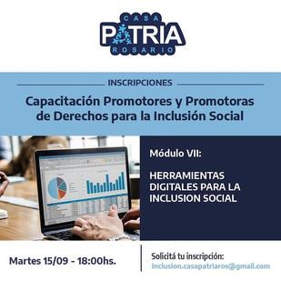 PROMOTORES Y PROMOTORAS DE DERECHOS PARA LA INCLUSION SOCIAL.