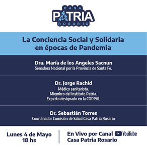 La Conciencia Social y Solidaria en épocas de Pandemia