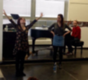 Broadway Arts Collective's founder Denise Summerford instructing a master class in auditioning