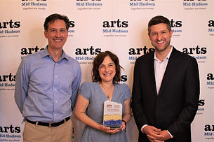 Arts in Education Award Broadway Arts Collective John and Denise Summerford receiving award from Pat Ryan, Ulster County Executive