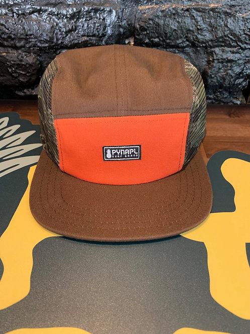 Brown + Orange Pynapl® Cycle Hat