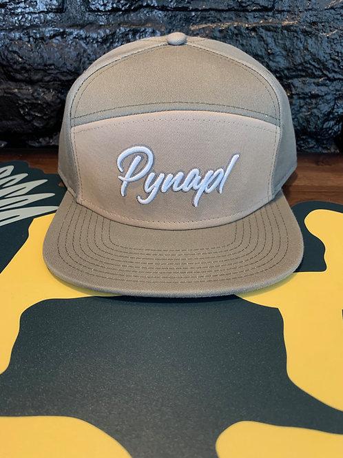 Grey + Tan Cream Pynapl® 7 Panel Hat