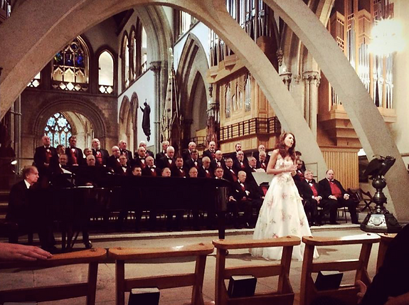 Performance with Y Fron MVC at Llandaff Cathedral