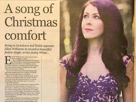 Article by Jenny White in the Western Mail
