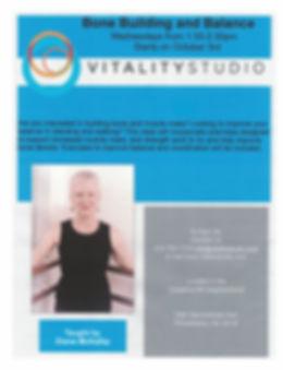 Diane Vitality Bone Building and Balance