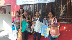 Shopping bags from sewing program