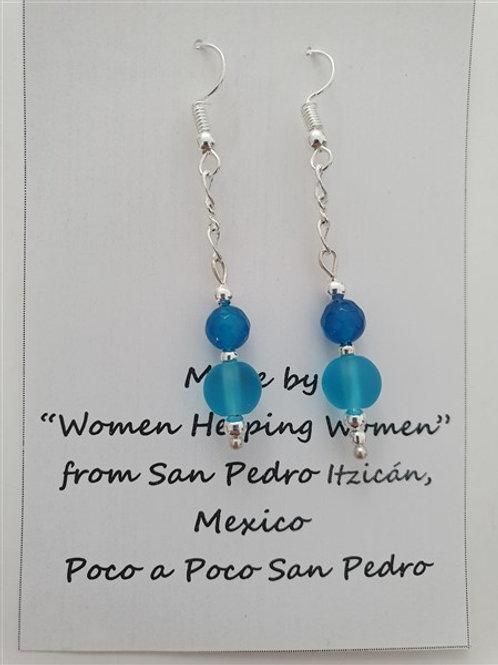Glass bead & crystal earrings