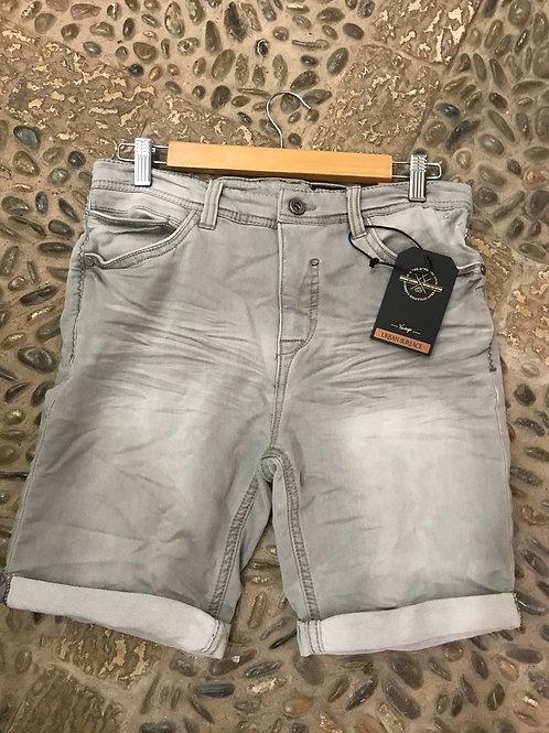 Männer Sweat Jeans Shorts, hellgrau