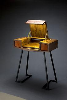 Ak Sang II walnut, speaker system, steel