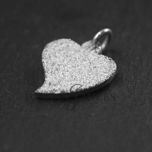 Silver heart Pendant. Fine Silver Heart.