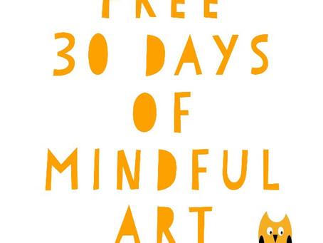 Free 30 Days of Mindful Art!