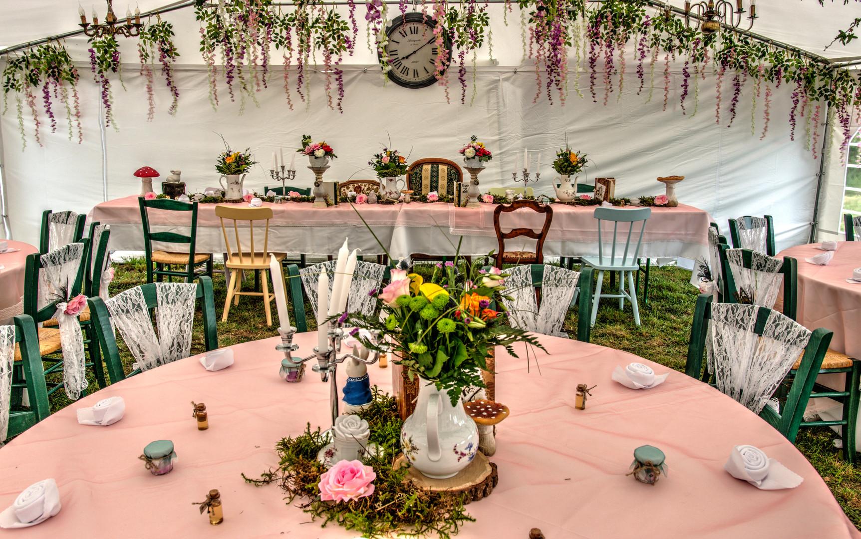 décoration mariage alice au pays des merveilles