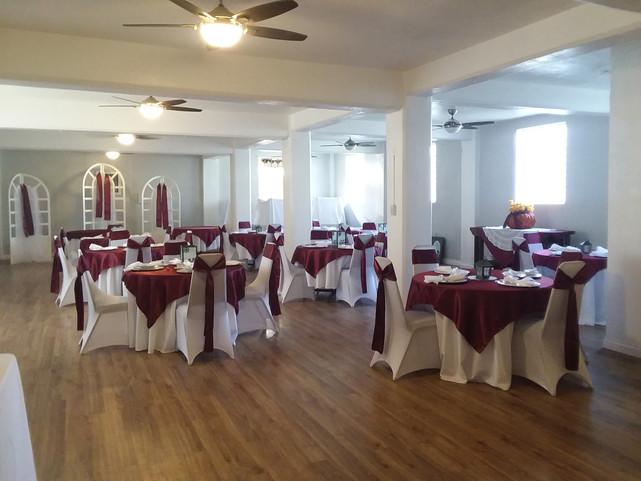 Ballroom Burgundy Overlays