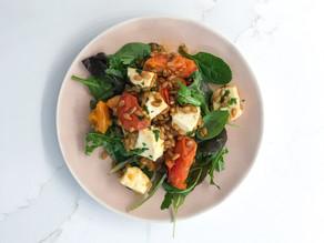 SPELT, Halloumi & Tomato salad
