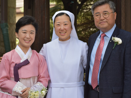 Congratulations to Sister Boram and Sister Maria