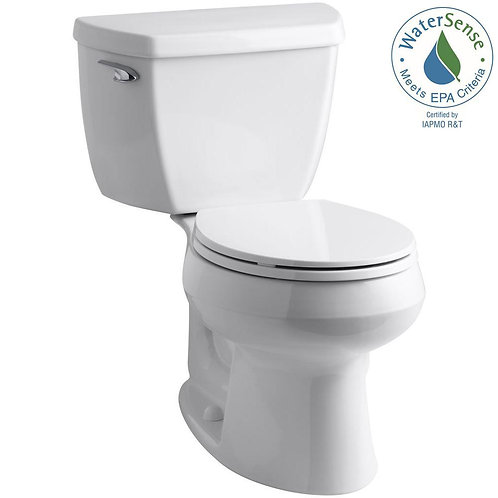 KOHLER Wellworth Classic Complete Solution 2-piece 1.28 GPF Single Flush Round T