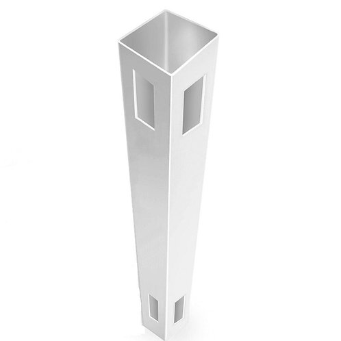 Linden 5 in. x 5 in. x 9 ft. White Vinyl Routed Fence Corner Post