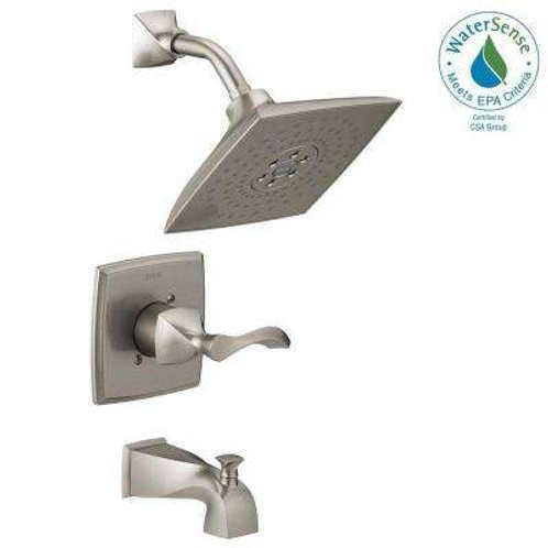 Delta Everly H2Okinetic Single-Handle 3-Spray Tub and Shower Faucet in SpotShiel