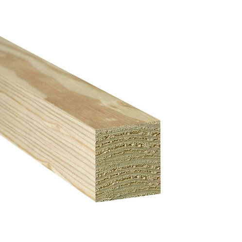 4 in. x 4 in. x 8 ft. #2 Ground Contact Pressure-Treated Southern Yellow Pine Ti