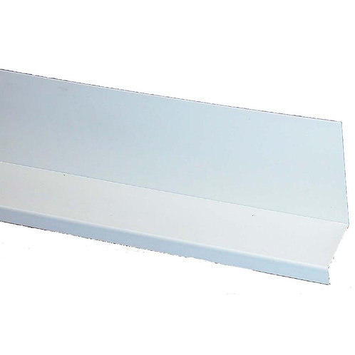 3-1/2 in. x 1-1/2 in. x 8 ft. Gray Deck Ledger Flashing Cap