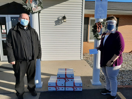 Donation to Local Nursing Homes December 10, 2020