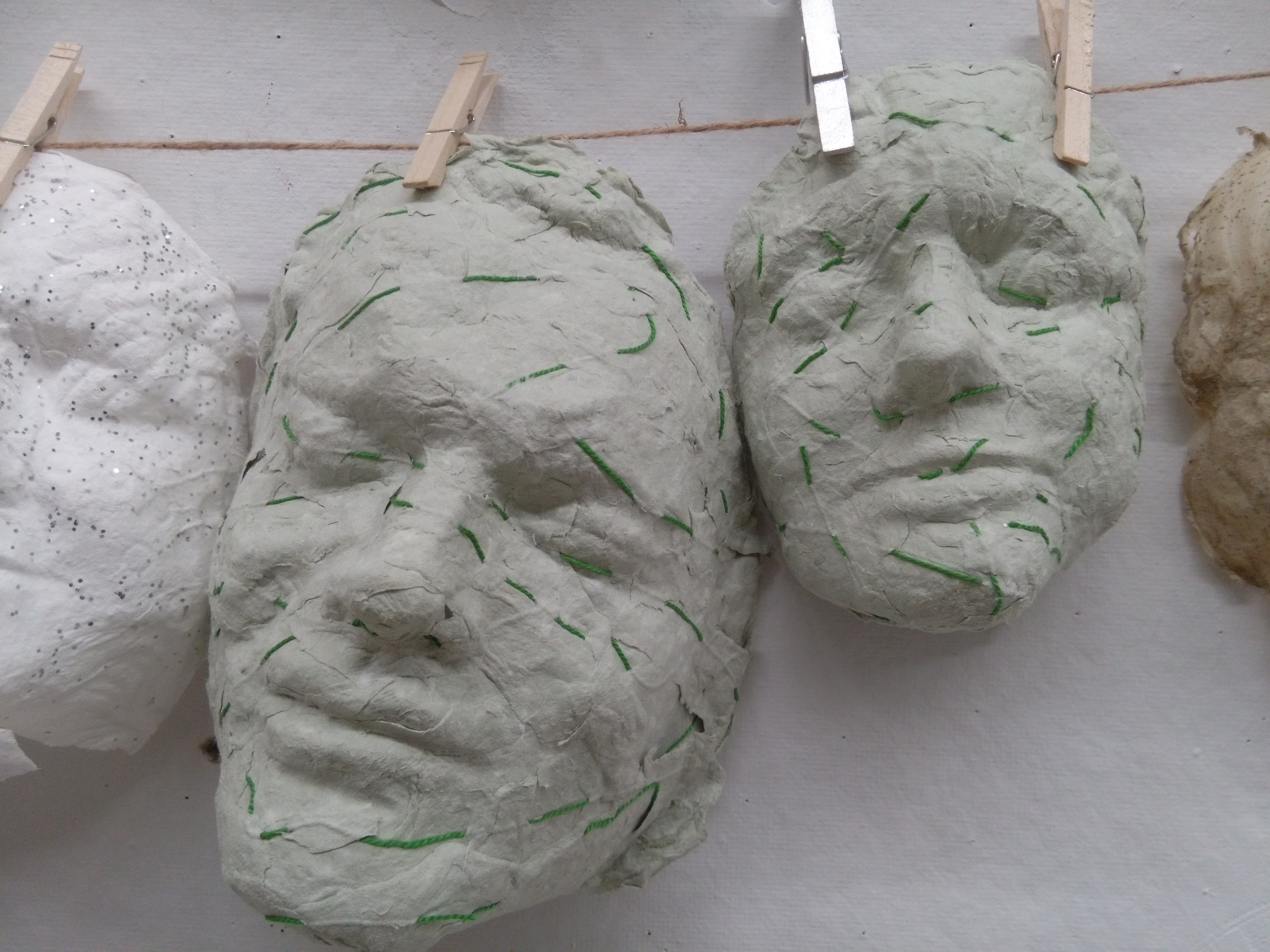 Masks series (green strings)