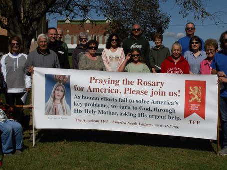Rosary Rally McLeansboro Courthouse Gazebo - October 16, 2021