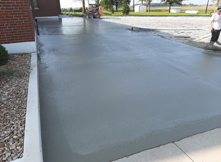 Handicap/Elderly Accessible Parking Lot on West Side of Church in Progress