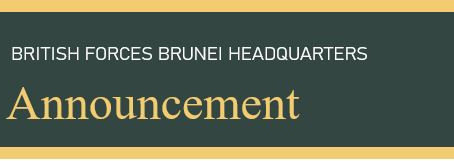 Brunei Garrison HQ Announcement 30.08.20