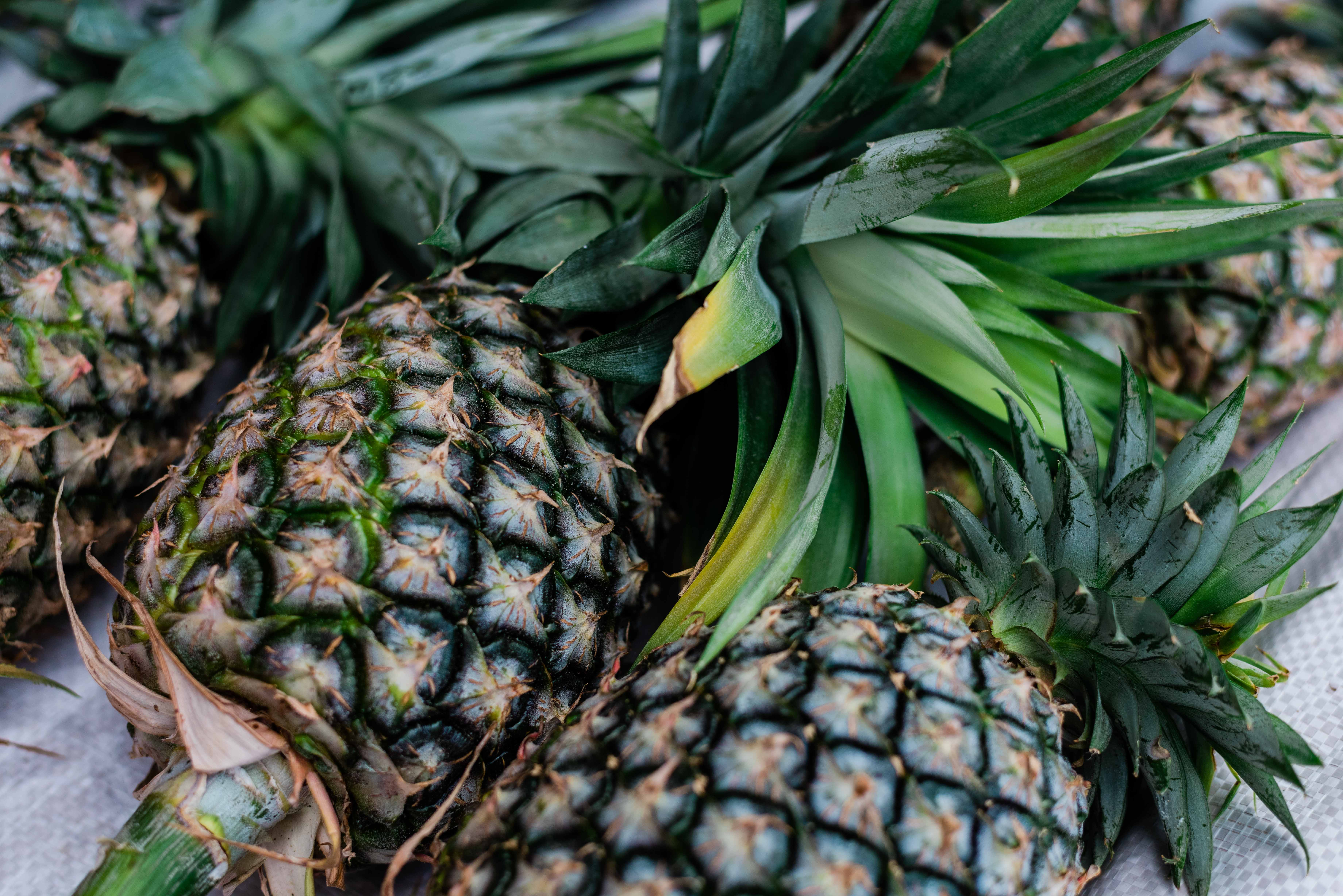 home-grown pineapple