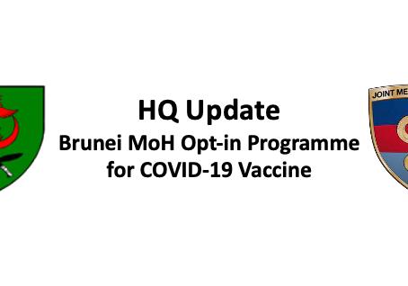 British Forces Brunei HQ Update 12.05.21