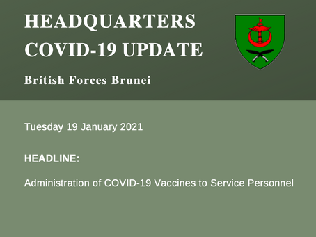 Headquarters COVID-19 Update 19.01.21