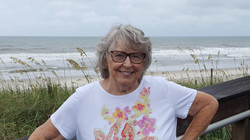 On the beach with sea oats