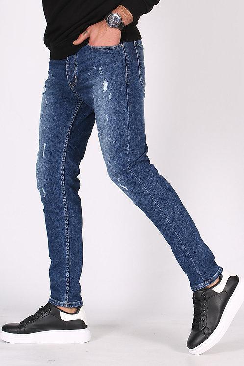Bakubazar Tünd Göy Slim Fit Kişi Jeans