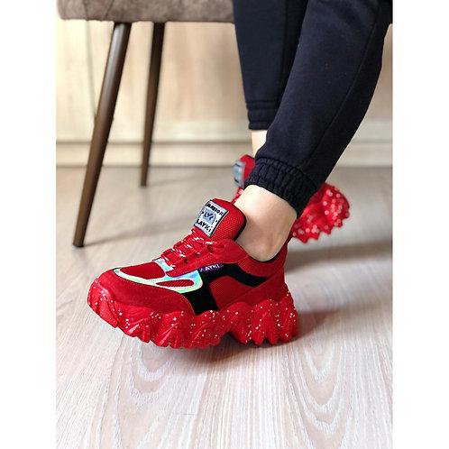 Bakubazar Qadın Ortopedik Sport ayaqqabısı qırmızı 0083