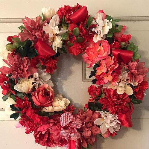 Memorial Wreath-Permanent/Artificial flowers