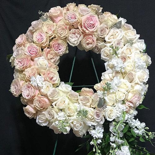 """Rose memorial wreath-""""Clarise"""""""
