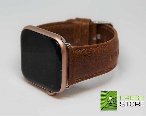 Ремешок для Apple Watch кожаный с классической пряжкой цвет коричневый 42/44ММ
